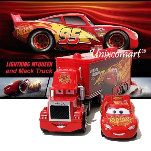 Foto Produk Mainan Anak Cars Lightning McQueen and Mack Truck dari Unixcomart