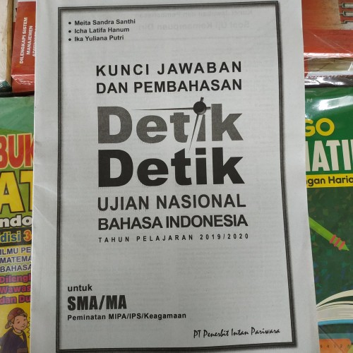 Jual Kunci Jawaban Detik Detik Un Bahasa Indonesia Sma 2020 Intan Pariwara Kota Surakarta Ethes Bookstore Tokopedia