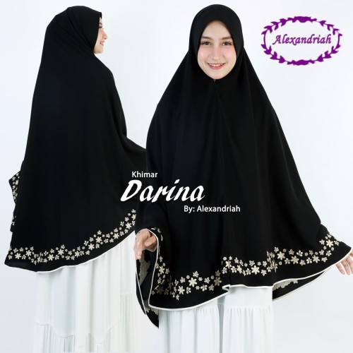 Foto Produk Khimar Jumbo Bordir Berlis khusus hitam dari Rizka Rizki Collection