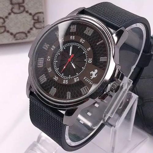 Foto Produk Jam tangan Pria FERRARI Tali Benneton - hitamplat putih dari Ahokyahop