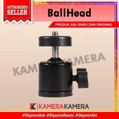 Foto Produk Ballhead Mini Monopod 360 swivel 1/4 / Ball Head Tripod (MT-23) dari kamerakamera