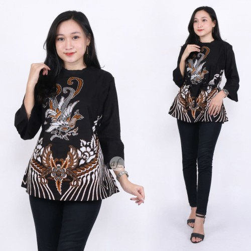 Foto Produk Atasan Batik Wanita Baju Batik Wanita Kemeja Batik Wanita dari Nani Batik Pekalongan