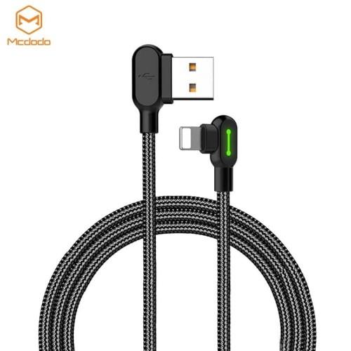Foto Produk MCDODO CA-467 Lightning iPhone Kabel Data & Charge 90 Degree Light Cab - 1.2 Meter dari AKA Official