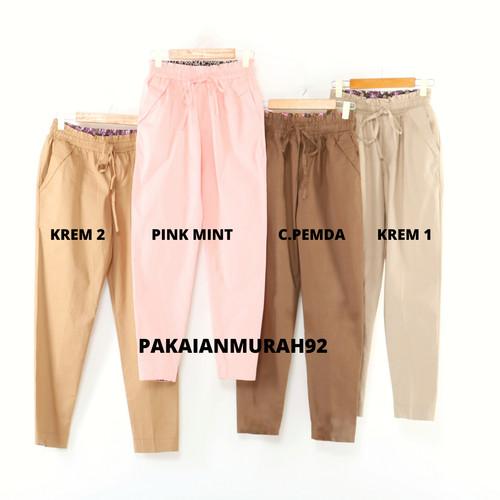 Foto Produk Celana Wanita Jumbo BB 70-110 kg Bahan Katun Stretch Ukuran Jumbo dari PAKAIANMURAH92