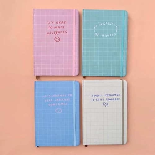 Foto Produk Moon Pancake Dotted Notebook Series (Notebook only) - Pink Mistake dari Moon Pancake