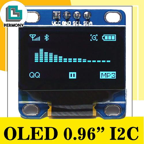 Foto Produk 0.96 Inch IIC I2C OLED 128x64 Display Module SSD1306 - Biru dari PerMony