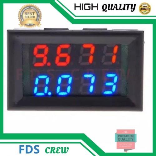 Foto Produk VoltMeter 4 Digit Digital Mini DC 0-100V 10A Ampere Volt Meter Tampila dari FDS crew