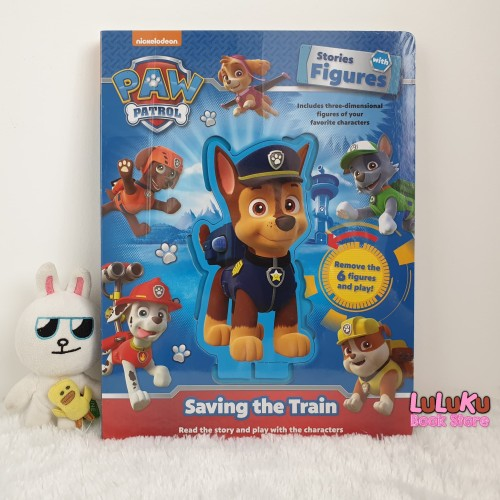 Foto Produk Buku Import Anak Nick Paw Patrol Stories with Figures Saving the Train dari LuLuKu Book Store