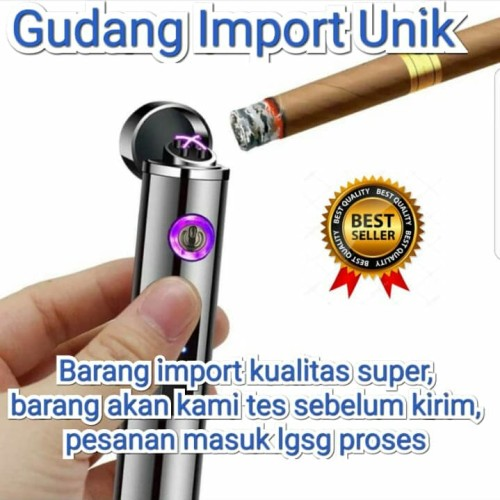 Foto Produk KOREK API ELEKTRIK DUAL ARC PLASMA USB LIGHTER, IMPORT KUALITAS SUPER dari Gudang Import Unik