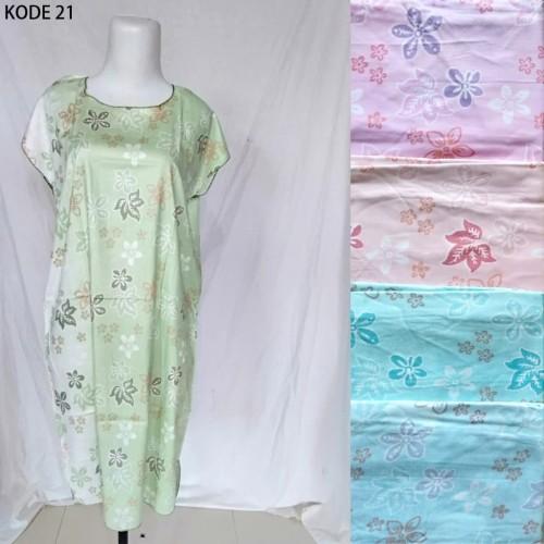 Foto Produk Grosir Daster Midi Rayon Murah Baju Tidur Kode 21 dari Tshirt Kita