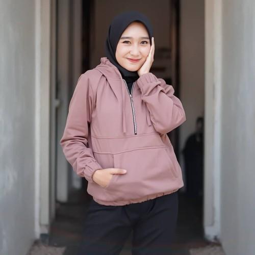 Foto Produk Sweater Hodie Wanita Zaira - Cokelat dari Butik Hijab Humaira