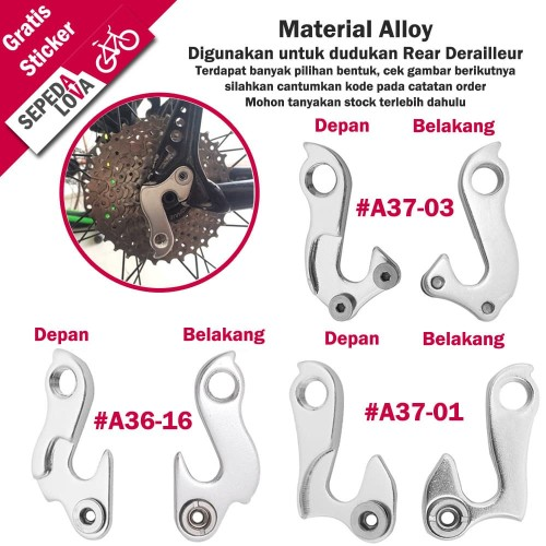 Foto Produk Anting RD Sepeda Sambungan Hanger Read Derailleur - A37-01 dari SepedaLova