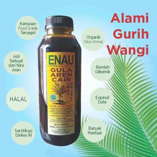 Foto Produk Gula Aren Cair organik ENAU 100% murni nira Aren dari Sumber Nutrisi