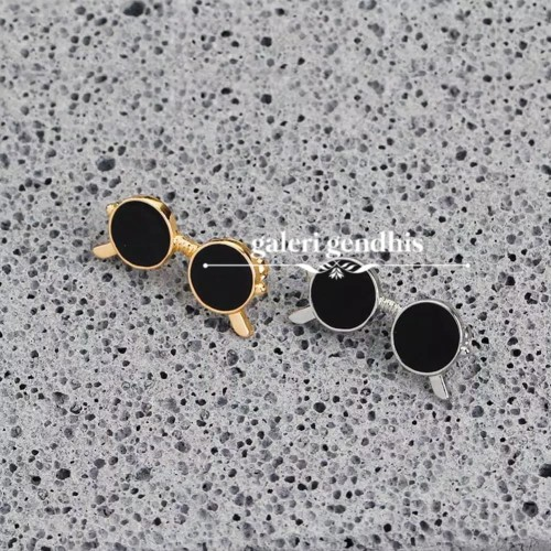 Foto Produk Bros Kacamata Mini - Brooch Pin - Bros Kebaya - Bros Hijab Jilbab - Gold dari Gendhis_23