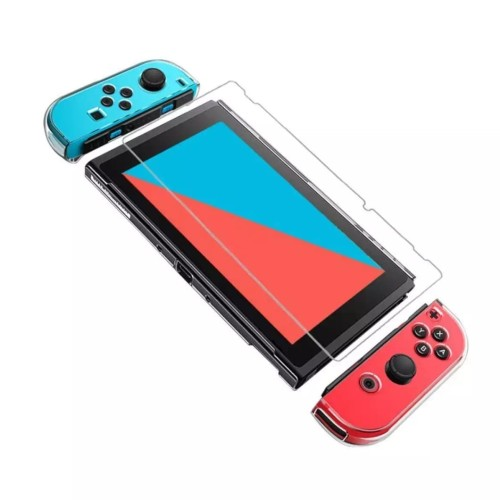 Foto Produk (FIT DOCK) Clear Crystal Dockable NS Nintendo Switch Casing Mika - Putih dari GoodTimeEver