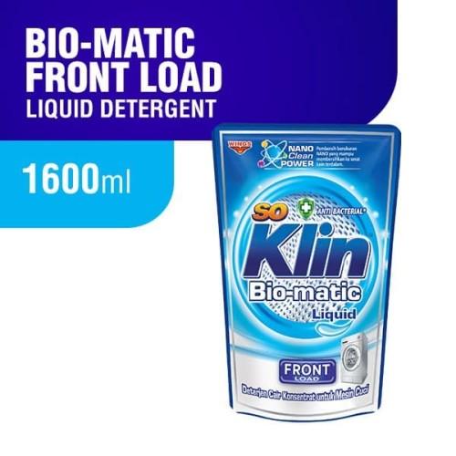 Foto Produk Soklin Deterjen Cair Bio Matic Front Load 1600 ml dari Wings Official Store