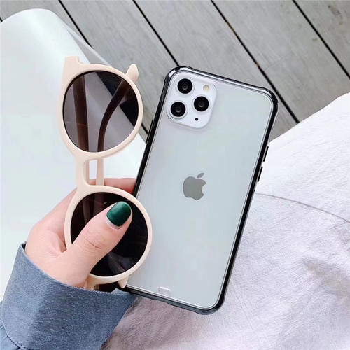 Foto Produk Premium High Quality Clear Matte Case New Iphone 6 6s 6P 6sP - IP 11 PRO MAX, BLACK HITAM dari WinStore-