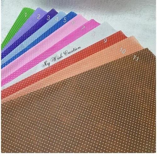 Foto Produk Tissue Polkadot /Kertas Bunga/Wrapping Paper/Tissue Paper - Biru dari My Wish Creation
