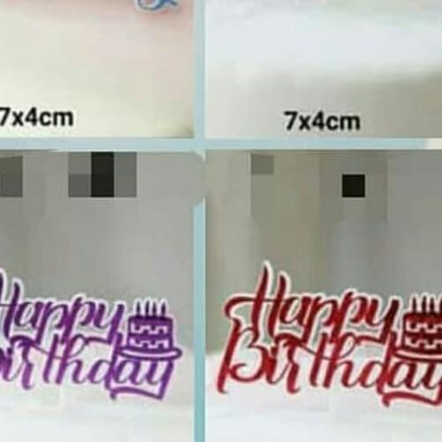 Foto Produk topper tusuk happy birthday plastik dari Just Me Shop