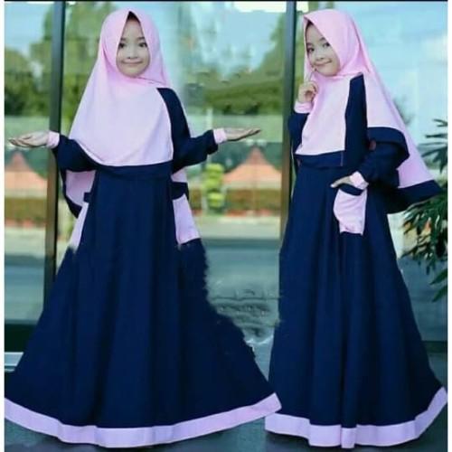 Jual Baju Muslim Anak Perempuan Murah Gamis Anak Rumana Kids 8 11 Tahun Kota Bandung B O M Baju Online Murah Tokopedia