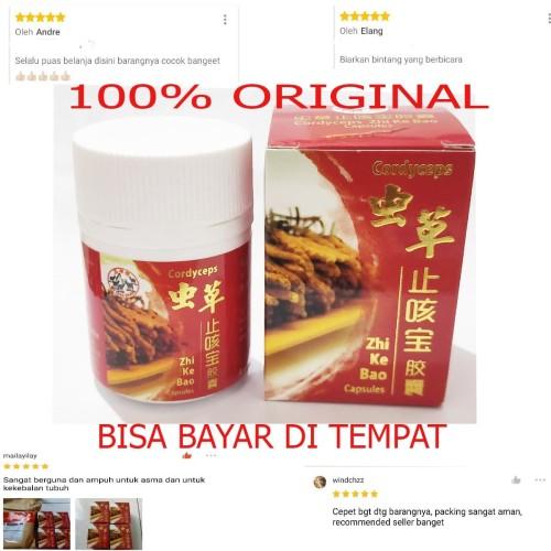 Foto Produk OBAT BATUK ASMA SESAK NAFAS HERBAL MANJUR CORDYCEPS ZHI KE BAO KAPSUL dari T.O.S (toko obat sehat)