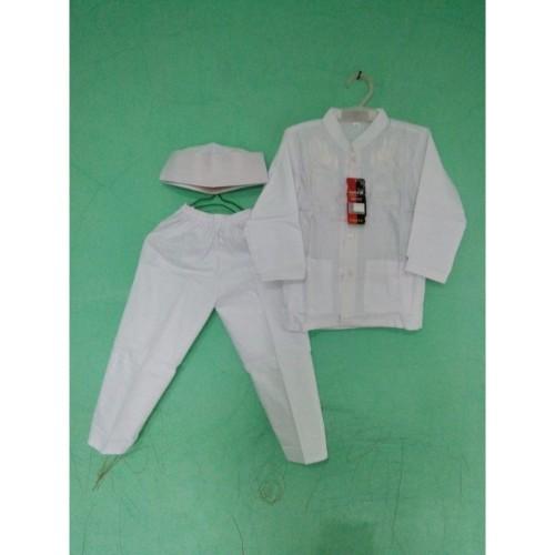 Foto Produk Baju Muslim  Koko Anak 2 - 3 tahun Tangan Panjang Warna Putih - 2 Tahun dari Zarka Baby Shop