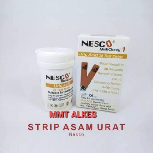 Foto Produk strip asam urat nesco / stik asam urat uric acid dari MMTAlkes