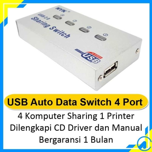 Foto Produk USB Auto Data Switch 4 Port dari Artica Computer