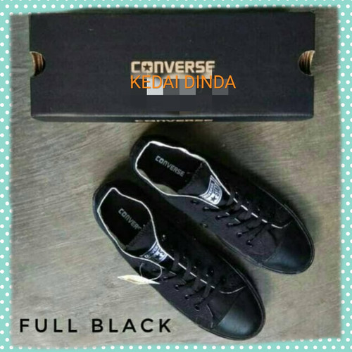 Foto Produk TERMURAH!! SEPATU CONVERSE FULL BLACK/HITAM POLOS THE BEST QUALITY dari Kedai Dinda