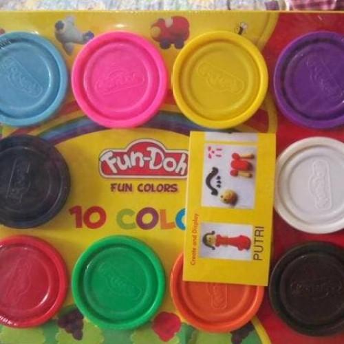 Foto Produk HOT SALE.!!! isi Lilin Playdough Fun Doh set 10 Warna Warni terjamin dari tiaranovitasari132