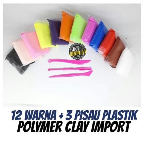 Foto Produk HOT SALE.!!! Polymer Clay Import 12 Warna - Plastisin Lilin Mainan dari tiaranovitasari132