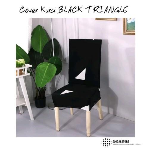 Foto Produk HG-Cover Kursi Sarung Kursi Stretch BLACK TRIANGLE Bahan Lembut dari Hitz Gallery