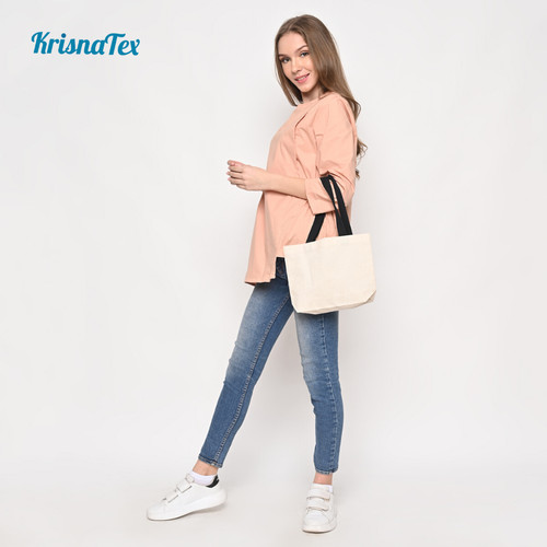 Foto Produk Tote Bag Kanvas Kecil ( Lunch Bag Canvas ) dari KrisnaTex