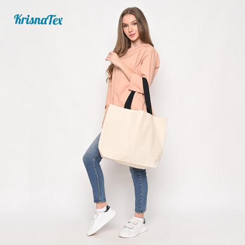 Foto Produk Tote Bag Kanvas Besar ( Tas Belanja Canvas Cotton Polos ) dari KrisnaTex