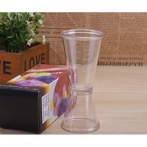 Foto Produk Gelas ukur / Gelas takar / Gelas Takaran / Jigger Plastik 20/40 ml dari aromakaldi