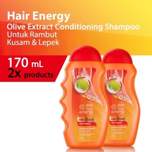 Foto Produk PAKET ISI 2-Makarizo Hair Energy Fibertherapy Shampoo Olive 170 mL dari Makarizo