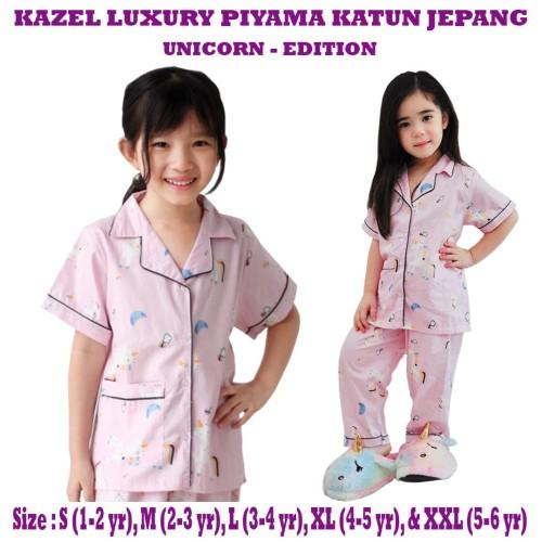 Foto Produk Kazel - Luxury Piyama Katun UNICORN EDITION - SMALL dari Chubby Baby Shop