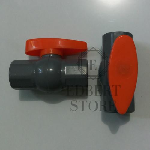 """Foto Produk Ball valve pvc / Stop kran 1/2"""" VPR dari edbertanverson"""