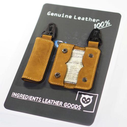 Foto Produk DOMPET STNK MOBIL ,MOTOR MODEL LIPAT SLIM - CRAZY HORSE TAN dari Ingredients LeatherGoods