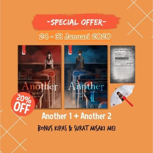Foto Produk [Special Offer] Another 1+Another 2+Kipas+Surat Misaki Mei dari Penerbit Haru
