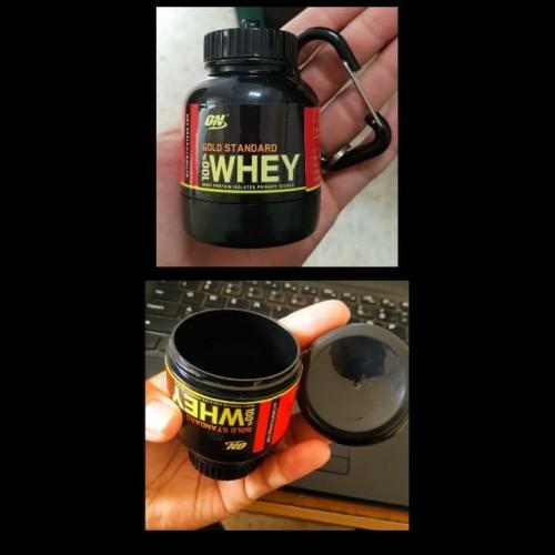 Foto Produk Portable Container Whey Protein Whey to go Gantungan Kunci On WGS dari indofitsurabaya
