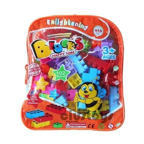 Foto Produk LEGO BLOCK TAS 102 pcs - MAINAN EDUKASI EDUKATIF HJ3836 dari ciustoys