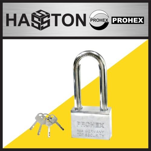 Foto Produk HASSTON PROHEX Gembok Chrome Leher Panjang 50mm (1091-500) dari Hasston Prohex