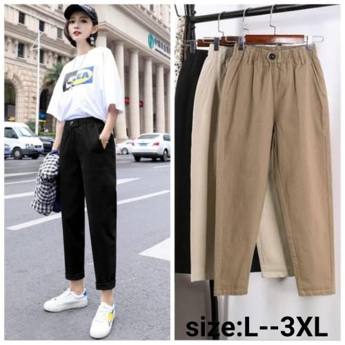 Foto Produk Celana Panjang Wanita - Cream, Xl dari Lillian shop