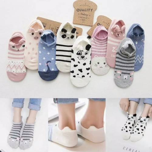 Foto Produk Kaos kaki wanita lucu Kaos kaki karakter hidden sock kaos kaki pendek dari WIZKA