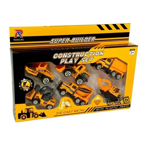 Foto Produk Mainan Anak Diecast Metal Construction Car Super Builder Mobil Truk dari Toko DnD