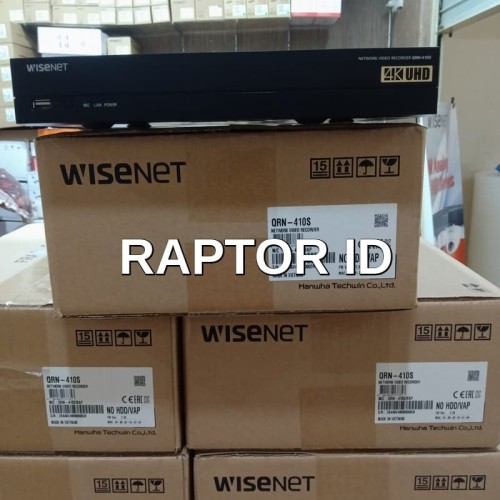 Foto Produk NVR WISENET QRN-410S NVR samsung 4cH NVR 4 Channel POE GARANSI RESMI dari Raptor Id