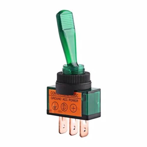 Foto Produk ✅Green Lamp Toggle Switch Rocker 3Pin 12V. Saklar Toggle Hijau dari innovtronic