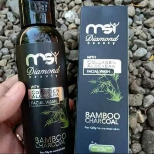 Foto Produk MSI Bamboo Charcoal Facial Wash - Sabun Arang Bambu Cair MSI dari Byu-D Collection
