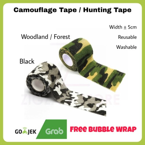 Foto Produk Camo Tape / Lakban Kamuflase / Lakban Camo / Lakban Kain - Hijau dari ZigZag-Store